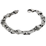 FIRE AND LIGHTNING BRACELET Thick Width Skull Link by BICO Australia