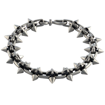 SPIKED CROSS Silver Mens Bracelet with Cross Designs by BICO Australia