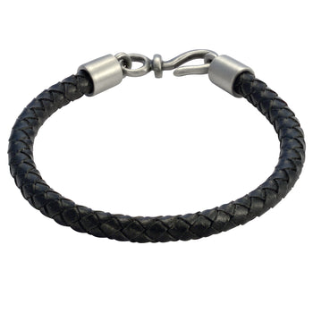 BOLO BLACK Braided Leather Bracelet for Men by BICO Australia
