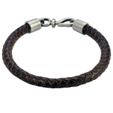 BOLO DARK BROWN Braided Leather Bracelet for Men by BICO Australia