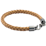 BOLO LIGHT BROWN Braided Leather Bracelet for Men by BICO Australia