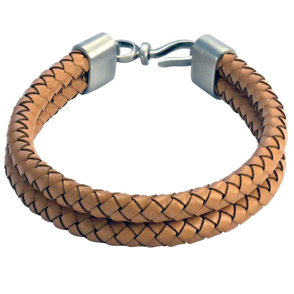 588d56f88301 DOUBLE BOLO LIGHT BROWN Leather Mens Bracelet from BICO Australia
