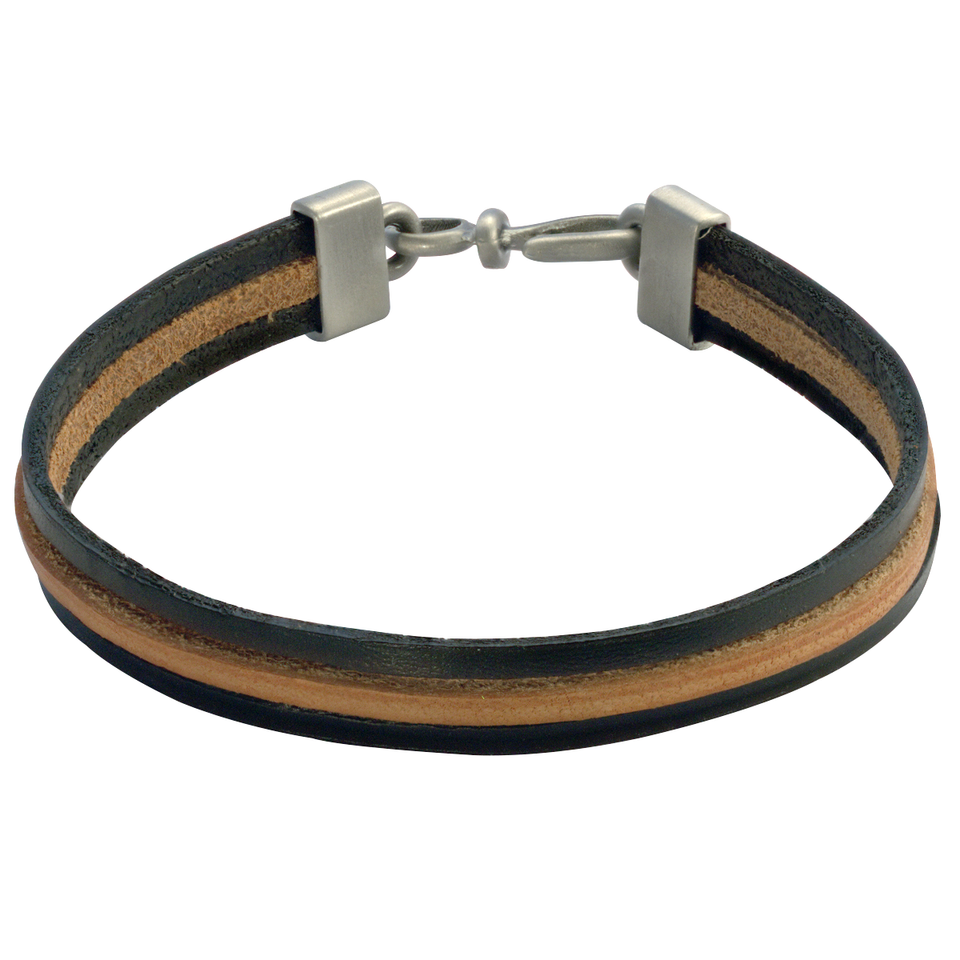 BLACK AND BROWN TRIPLE LEATHER BRACELET for Men by BICO Australia