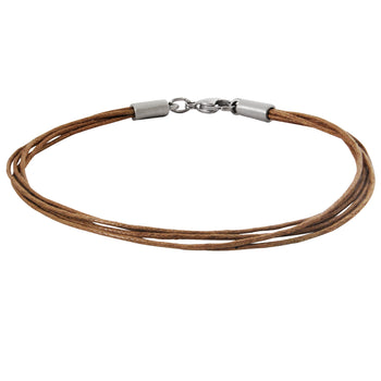 BROWN MULTI-STRAND COTTON BRACELET for Men by BICO Australia