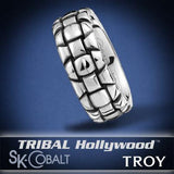 ARMORED TROY Ring SK Cobalt Men's Wedding Band by Scott Kay