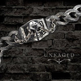 UNKAGED CHAINED SKULL Scott Kay Mens Sterling Silver Bracelet | Tribal Hollywood Unkaged Image