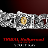 SPARTA Engraved Sterling Silver Mens Link Bracelet by Scott Kay