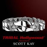 GUARDIAN Contemporary Scott Kay Mens Sterling Silver Bracelet