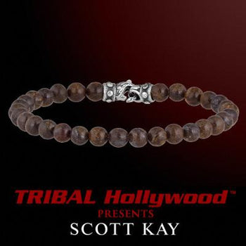 Scott Kay BROWN JASPER BEAD BRACELET