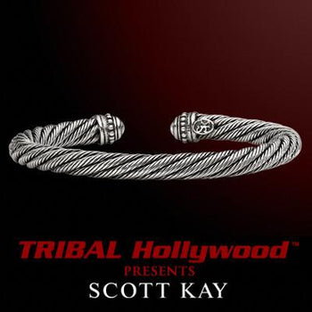TWISTED CABLE Mens Sterling Silver Cuff Bracelet by Scott Kay