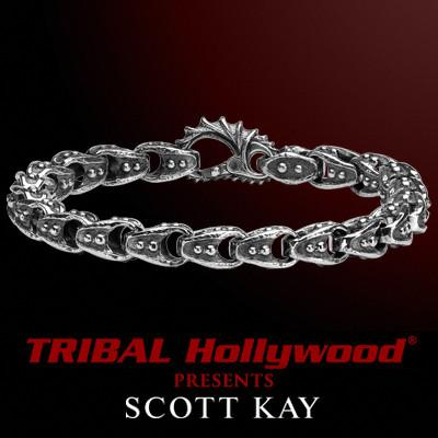 SAMURAI RIVETED ARMOR LINK Sterling Silver Mens Bracelet by Scott Kay