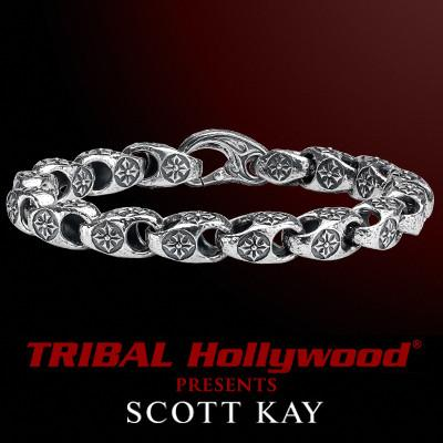 PATONCE CROSS LINK Mens Bracelet in Sterling Silver by Scott Kay