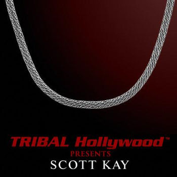 KODIAK ROUND WEAVE 3mm Sterling Silver Chain by Scott Kay