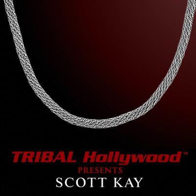 KODIAK ROUND WEAVE 4mm Sterling Silver Chain by Scott Kay