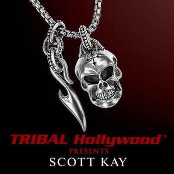 SKULL & SPARTA DAGGER UnKaged Scott Kay Mens Sterling Silver Necklace