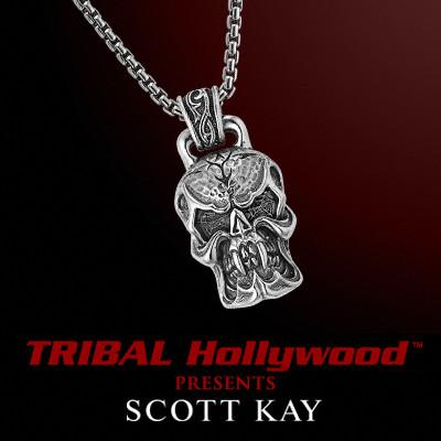 UnKaged FANGED SKULL Sterling Silver Necklace by Scott Kay