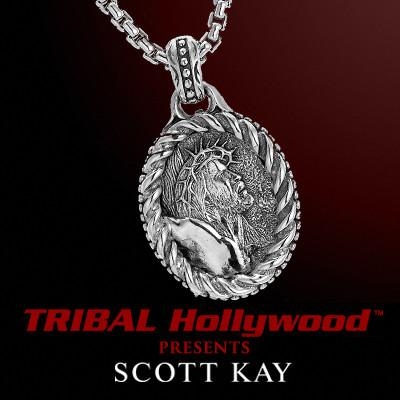CHRIST MEDALLION Sterling Silver Mens Necklace by Scott Kay