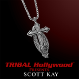 PROTECTING THE CROSS ANGEL Small Silver Necklace by Scott Kay