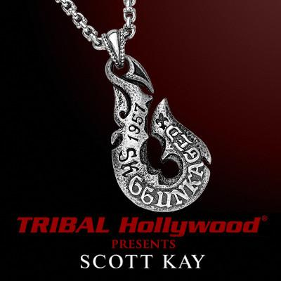 UNKAGED HOOK Scott Kay Mens Sterling Silver Pendant Necklace