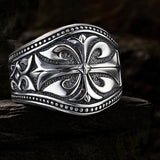 UNKAGED WARRIOR Sparta Engraved Scott Kay Mens Sterling Silver Ring