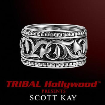 Men's Ring Silver Scott Kay Knotted Vine