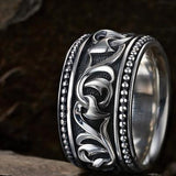 SIlver Men's Ring Scott Kay Knotted Vine