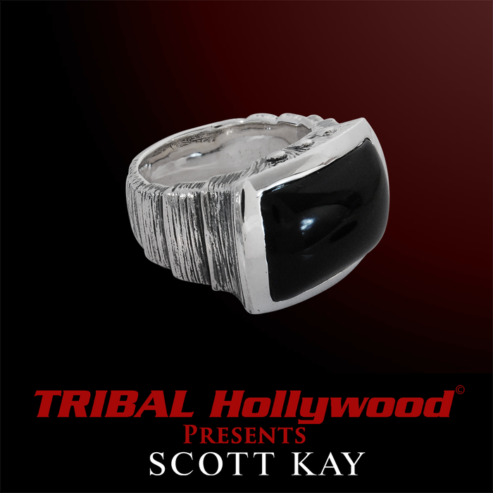 ONYX SAMURAI Sterling Silver Ring for Men by Scott Kay