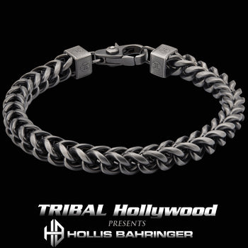 Hollis Bahringer KADENA FOXTAIL BRACELET for Men in Gunmetal Steel