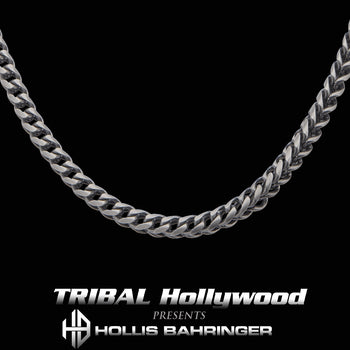 Hollis Bahringer KADENA FOXTAIL CHAIN for Men in Gunmetal Steel