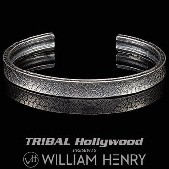 William Henry CORE CUFF Stone Carved Sterling Silver Bracelet