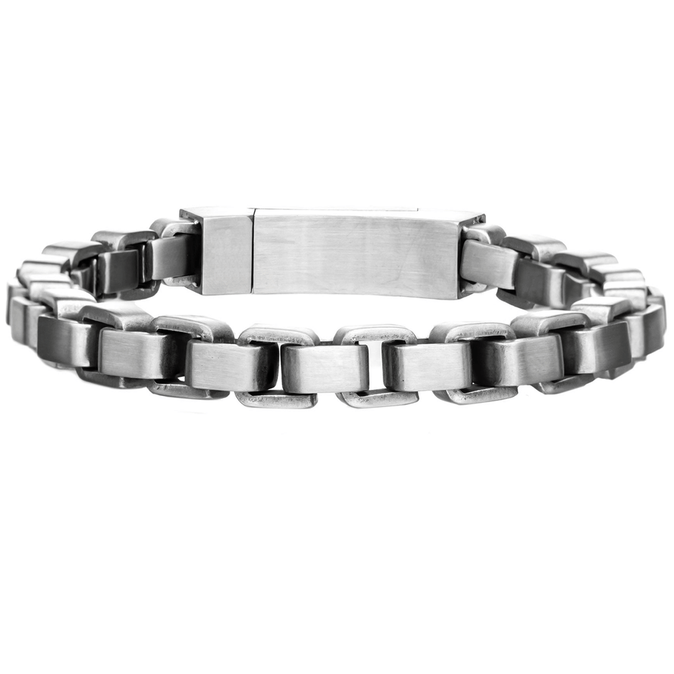 STEEL BOX Thick Width Rounded Box Link Bracelet for Men