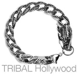 DRACONA Chinese Dragon Bracelet in Stainless Steel