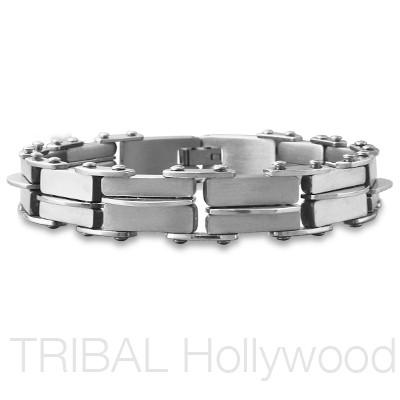 HARVEY WALLBANGER Stainless Steel Men's Link Bracelet