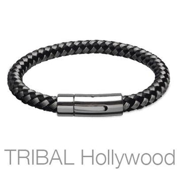 SAKETINI Woven Stainless Steel Thread Mens Bracelet