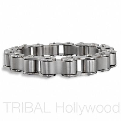 SIDECAR Stainless Steel Men's Motorcycle Chain Bracelet