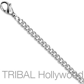 GALAPAGOS High Polish Curb Link Chain Necklace