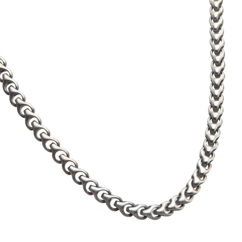BARRICADE CHAIN Modern Link Stainless Steel Mens Necklace