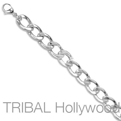 BOWERY Round Curb Link Chain Stainless Steel Necklace