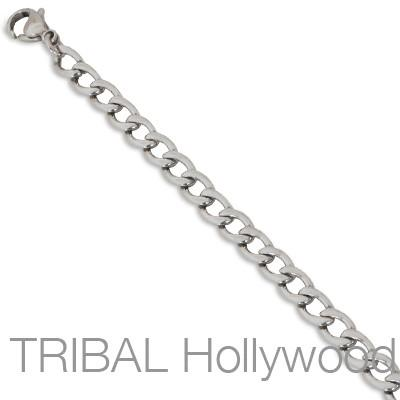 SHIATSU Flat Curb Link Stainless Steel Necklace Chain