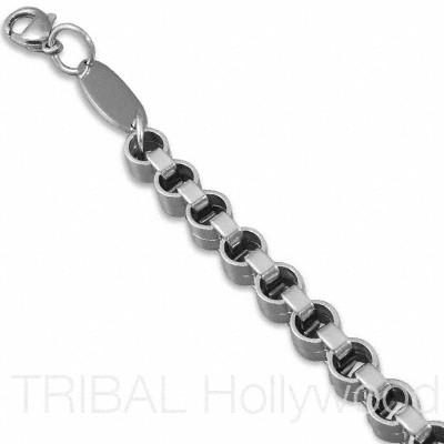 FOUNDATION Men's Stainless Steel Belcher Chain