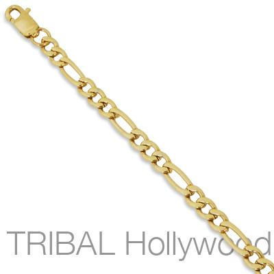 Gold Stainless Steel Necklace KATRA Mens Figaro Chain