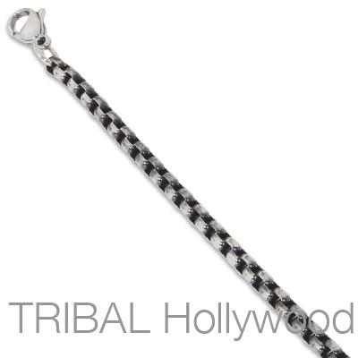 Necklace Chain for Men BUNGALOW Thin Width Classic Oval Link in Steel | Tribal Hollywood