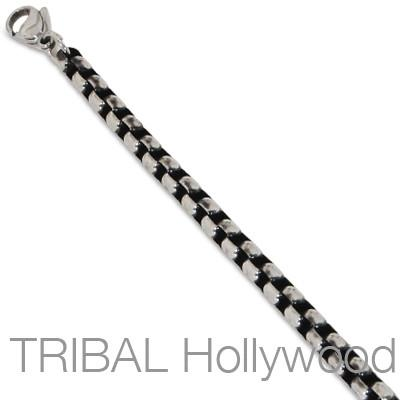 Mens Necklace LOUNGE CHAIN Thick Width Steel Classic Oval Link | Tribal Hollywood