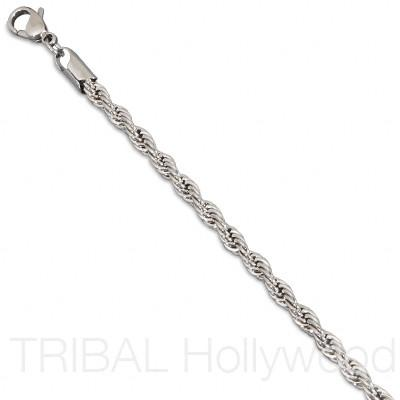 ROUGE Twisted Stainless Steel Serpentine Rope Chain Medium