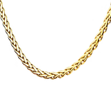 OBLIVION GOLD Spiga Link Necklace Chain for Men in Gold Steel