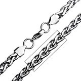 OBLIVION Spiga Link Necklace Chain for Men in Stainless Steel