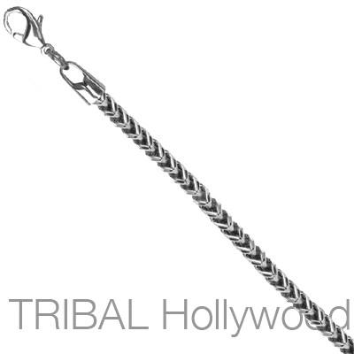 FOXTAIL Franco Link Chain Stainless Steel Necklace