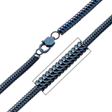 BLUE PYTHON CHAIN Stainless Steel Link Chain for Men