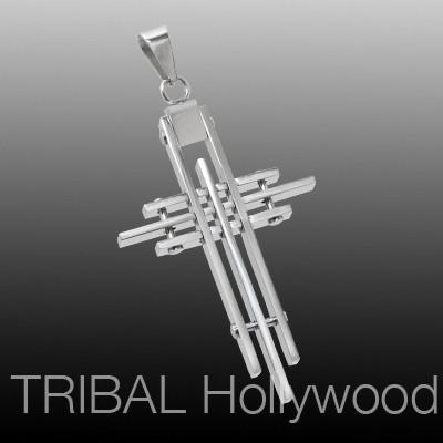 ARCHITECT CROSS Stainless Steel Mens Necklace Pendant