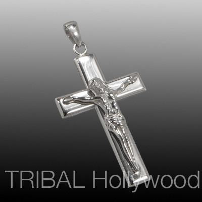CRUCIFIX CROSS Stainless Steel Necklace Pendant